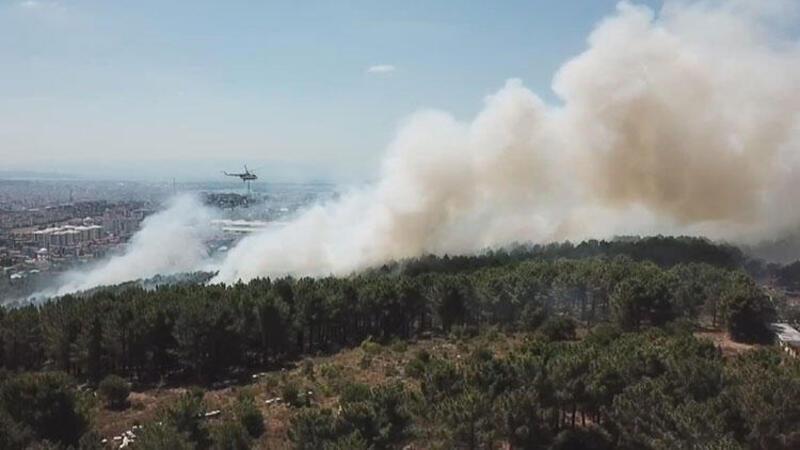 Son dakika haberler... Kartal Aydos'ta ormanlık alanda yangın