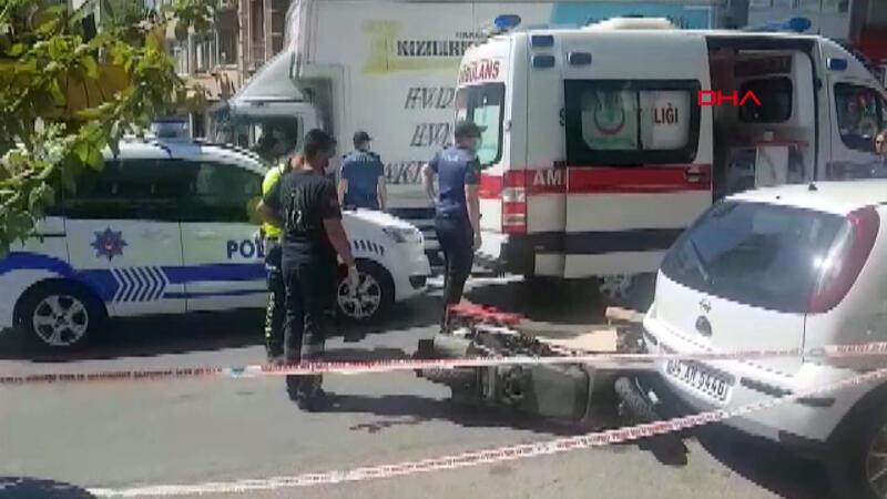 Fatih'te itfaiye aracının altında kalan motosikletli kurye öldü