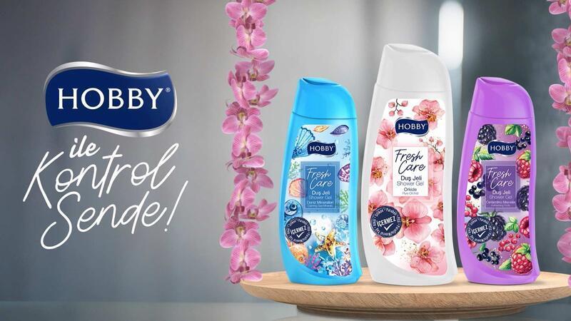 Hobby Fresh Care Duş Jeli ile gün boyu kontrol sende!