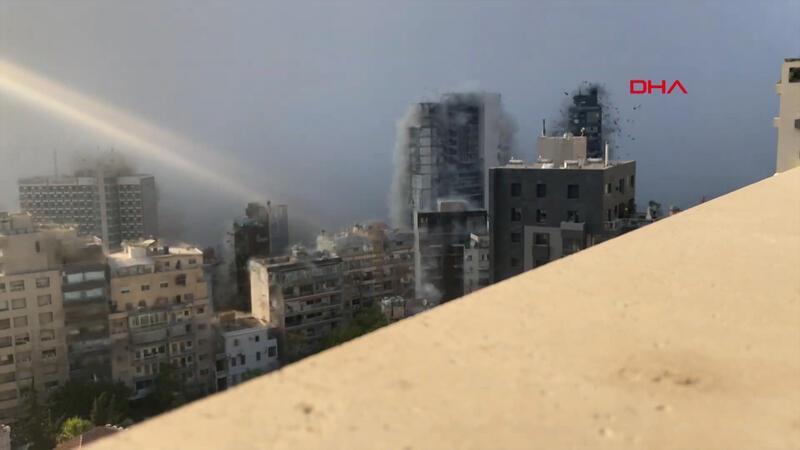 Beyrut'taki patlamanın en net görüntüleri yayınlandı