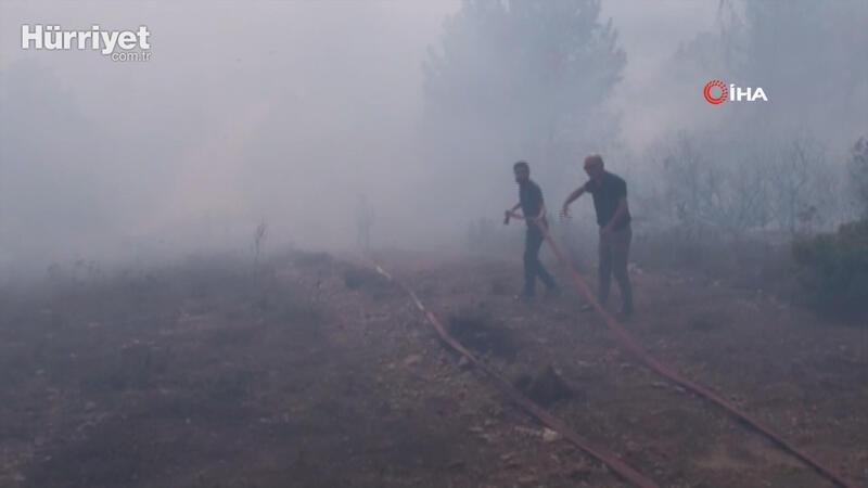 Aydos Ormanı'nda yangın çıktı
