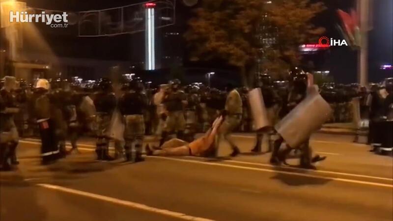 Belarus'ta seçim sonuçlarının ardından sokaklarda çatışma çıktı
