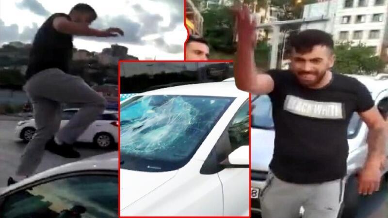 Alibeyköy'de trafikte dehşet saçtı, kimse durduramadı