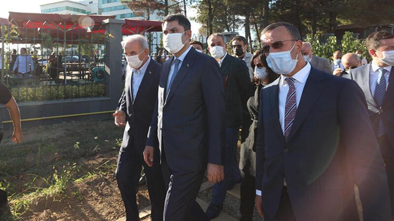 Bakan Kurum, gürültü kirliliğini engelleyen bariyerleri yerinde inceledi