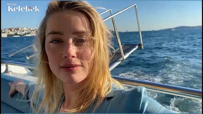 Amber Heard, Boğaz'da tekne gezintisinde