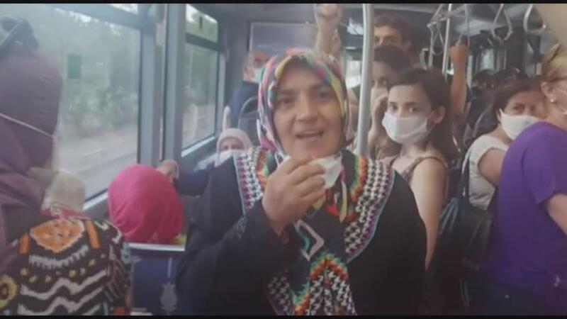 Otobüste maske takmadı, kendisini öyle bir şekilde savundu ki...