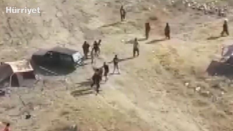 Çadır kurma kavgasında otomobilini insanların üzerine sürdü 4'ü çocuk 12 yaralı