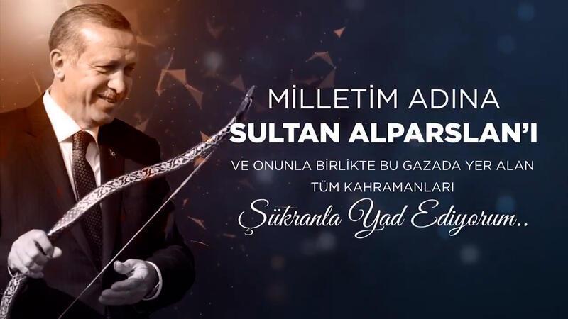 Cumhurbaşkanı Erdoğan'danMalazgirt Zaferi paylaşımı