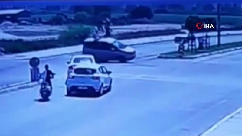 Yunus timinin ölümden döndüğü kaza kamerada