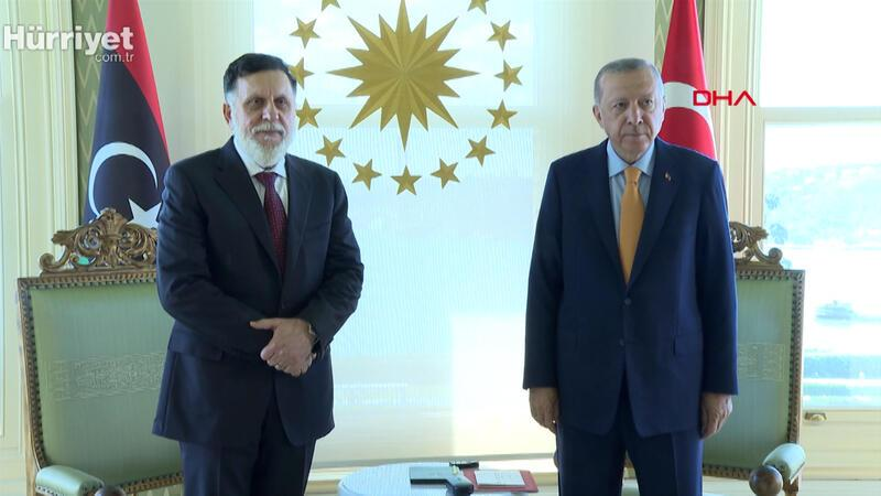 Cumhurbaşkanı Erdoğan'ın Fayiz Es Serrac'ı kabulü başladı