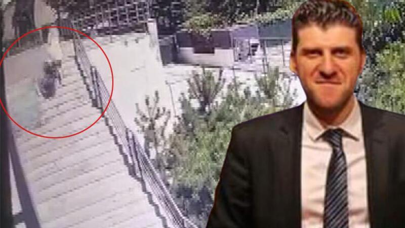 Bahçelievler'de lüks rezidanstan düşen camla ölüm... Olay anı kamerada
