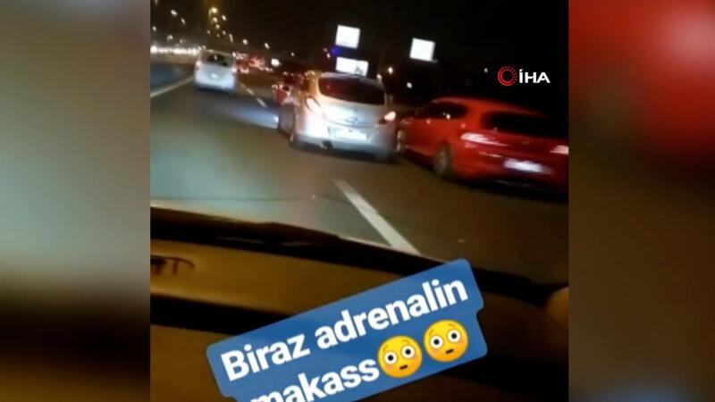 İstanbul'da maganda terörü kamerada