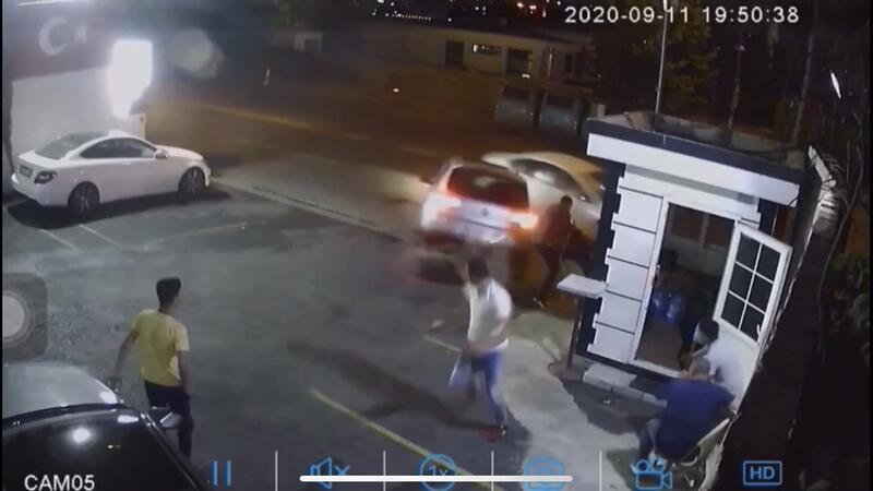 Ortaköy'de feci kaza! Ölümden saniyelerle kurtuldu