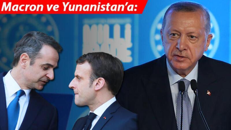 Son dakika haberler... Cumhurbaşkanı Erdoğan: Sayın Macron senin şahsımla daha çok sıkıntın olacak!