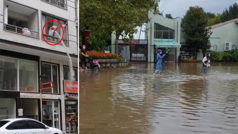 Bursa'da şiddetli yağış hayatı olumsuz etkiledi