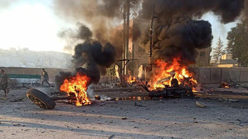 Afrin'de patlama anı kamerada