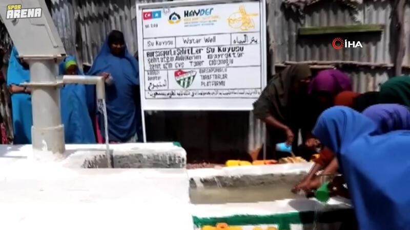Bursasporlu taraftarlar şehitler için Somali'de iki su kuyusu açtırdı