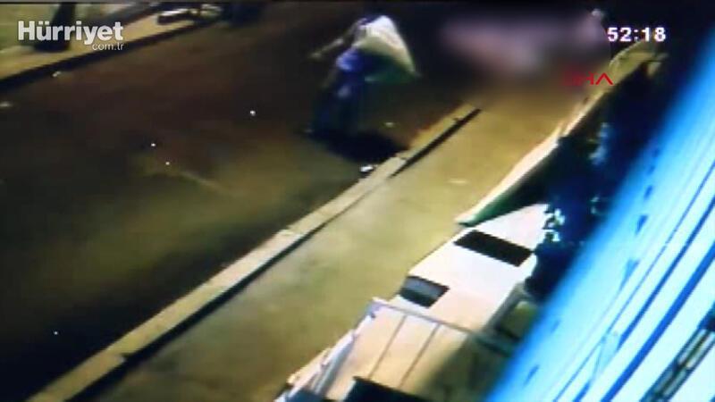 Ukraynalı kadının düşme anı güvenlik kamerasında