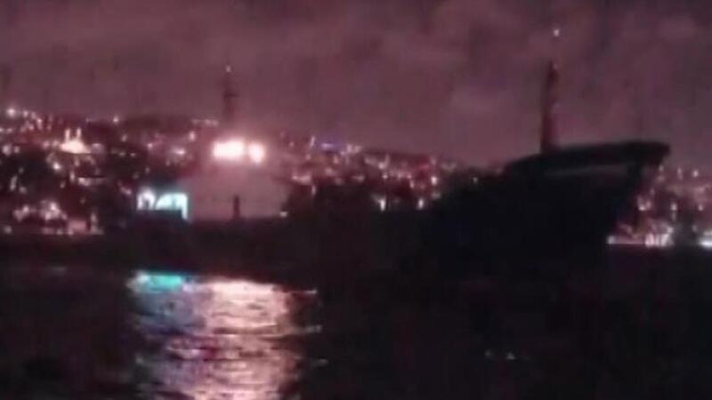 İstanbul Boğazı'nda sürüklenen gemi son anda durabildi