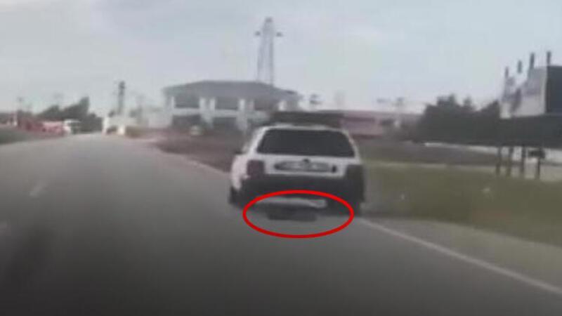 Silivri'de vicdansızlık... Köpeği aracıyla metrelerce böyle sürükledi