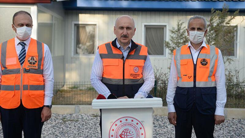 Bakan Karaismailoğlu, Kuzey Marmara Otoyolu'nda incelemelerde bulundu