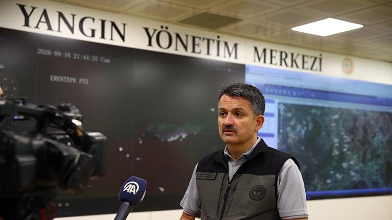 Bakan Pakdemirli'den Antalya'daki yangınla ilgili açıklama