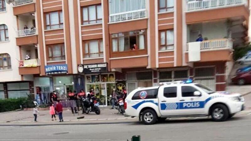 Ankara'da berber dükkanında silahlı kavga