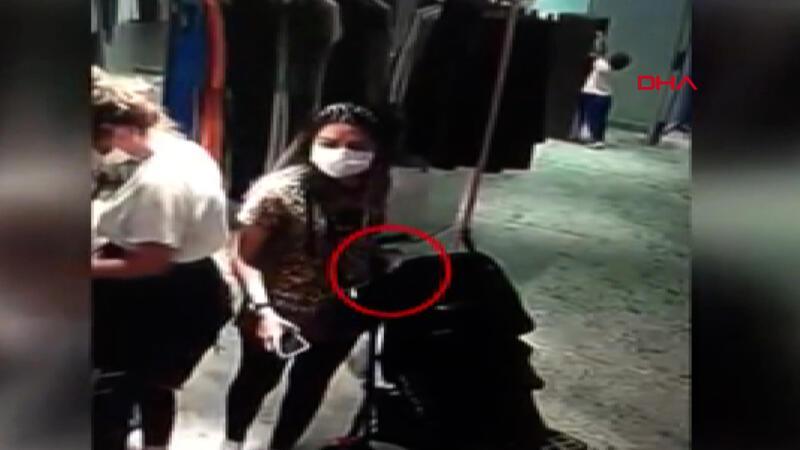 Görüntüler Şişli'den... Bebek arabalarından hırsızlık yapan kişi kamerada