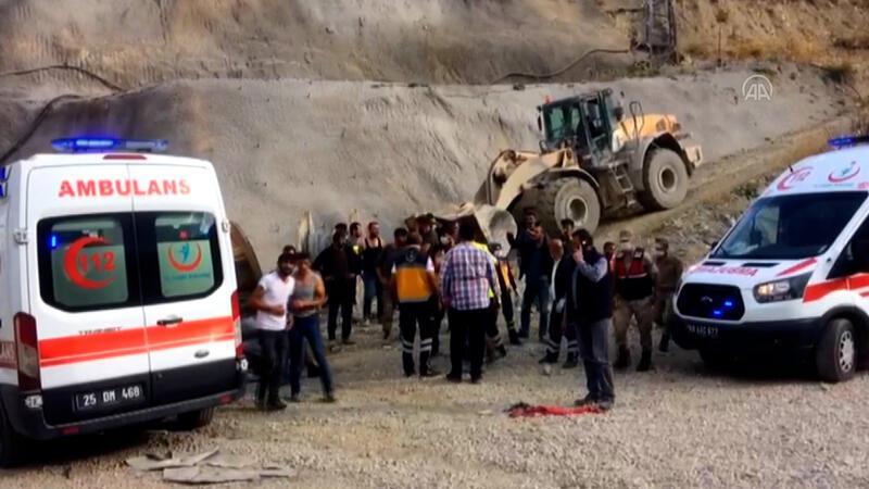Erzurum'da Kop Dağı'nda yapımı süren tünelde patlama sonrası göçük