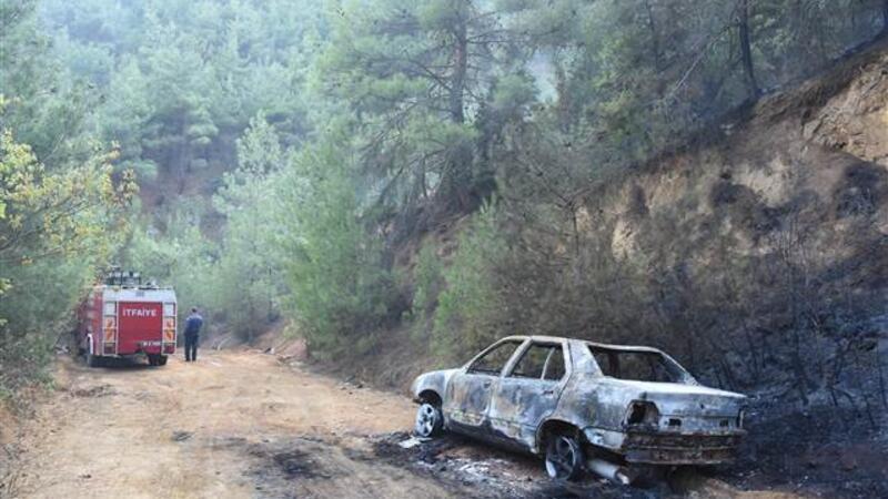 Eskişehir'de alev alan otomobil ormanı yaktı
