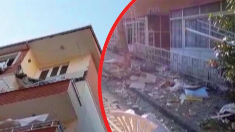 Son dakika... Avcılar'da bir binanın 5. katındaki balkon çöktü