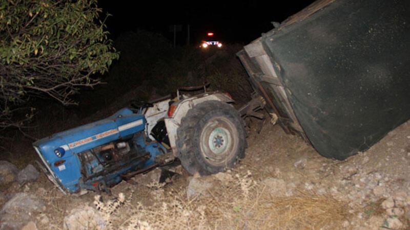 Traktörle 10 metreden düştü, burnu bile kanamadı