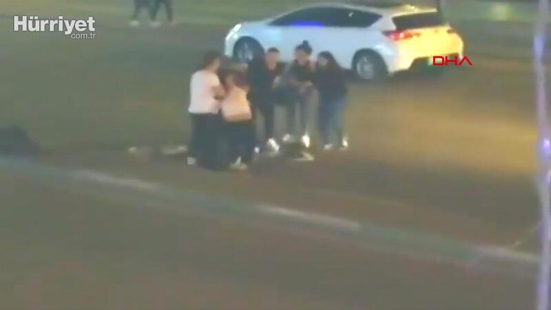 Kadınların sokak ortasındaki kavgası  kamerada