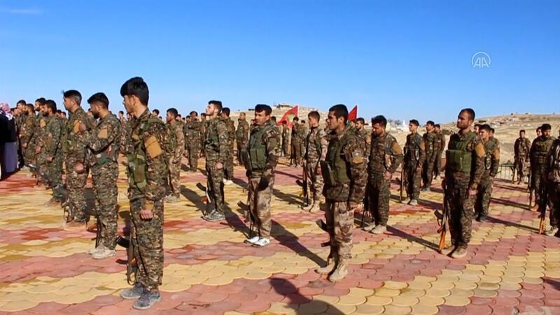 AA, terör örgütü PKK'nın Sincar'daki kamplarını görüntüledi