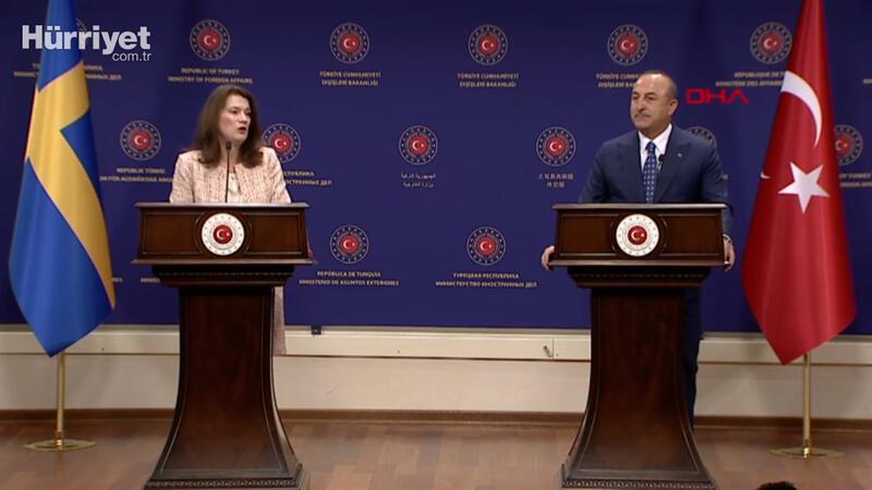 Dışişleri Başkanı Mevlüt Çavuşoğlu İsveçli mevkidaşıyla soruları yanıtladı