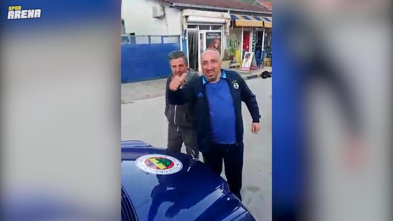 Makedonya'ya yaşayan Fenerbahçeli taraftar tutkusuyla şaşkına çevirdi!