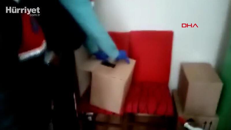 Jandarmanın 3 ilde gerçekleştirdiği sahte içki operasyonu kamerada