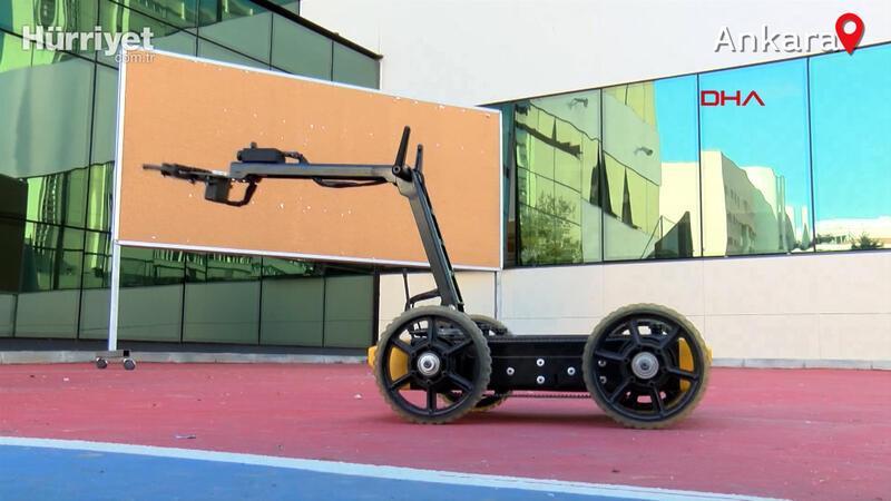 Ankara'da lise öğrencileribomba imha robotu üretti
