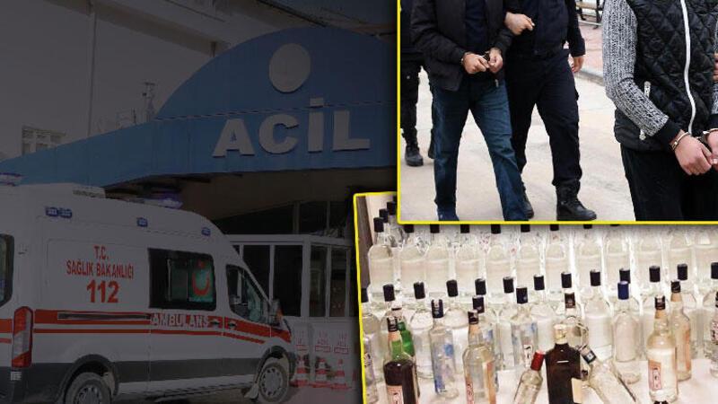 Polisin ele geçirdiği kaçak sigara ve sahte içkiler sergilendi