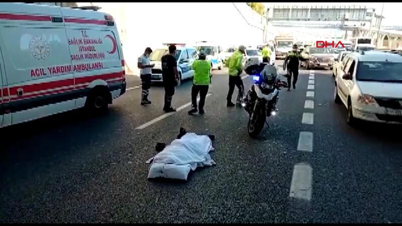 Edirnekapı'da üst geçitten D-100'e atlayan kişi öldü