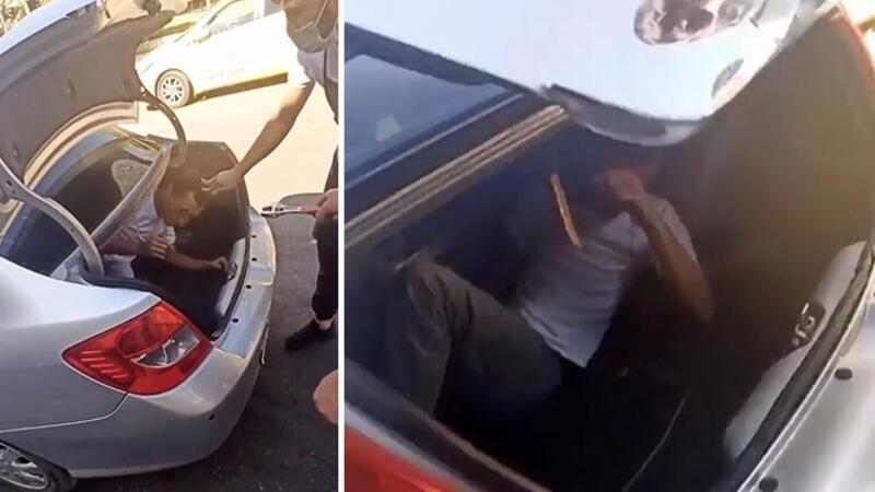 Yer: Antalya... Yakaladıkları hırsızı otomobilin bagajına koydular