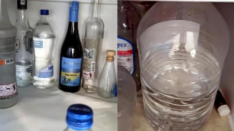 Kahramanmaraş'ta geçici körlüğe neden olan sahte içki ele geçirildi