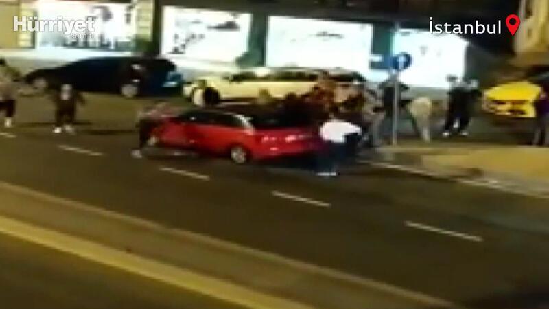 Kağıthane'de alkollü gençler terör estirdi