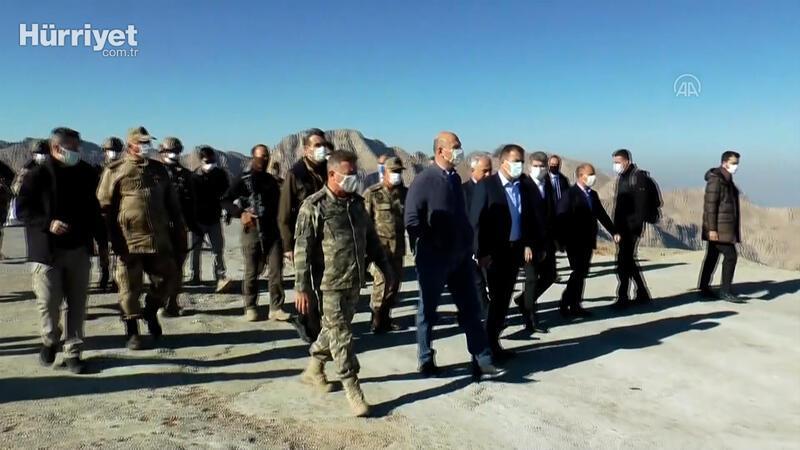 İçişleri Bakanı Süleyman Soylu, İkiyaka Dağları'ndaki askerleri ziyaret etti