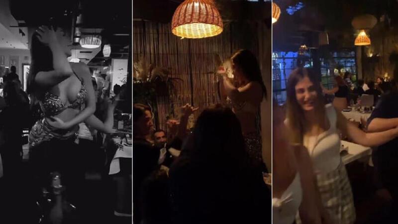 Şişli'de akıl almaz görüntü; Dansözlü korona eğlencesi kamerada