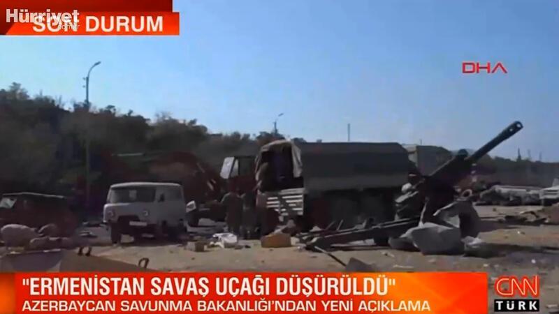 Azerbaycan duyurdu: Ermenistan savaş uçağı düşürüldü