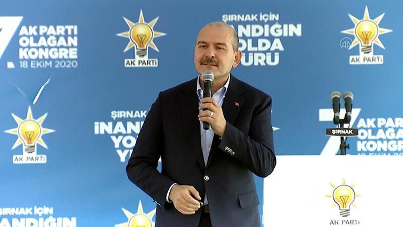 İçişleri Bakanı Soylu, AK Parti Şırnak 7. Olağan İl Kongresi'ne katıldı