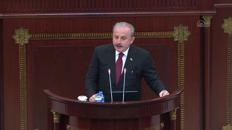 TBMM başkanı Şentop Azerbaycan Meclisi'nde konuştu