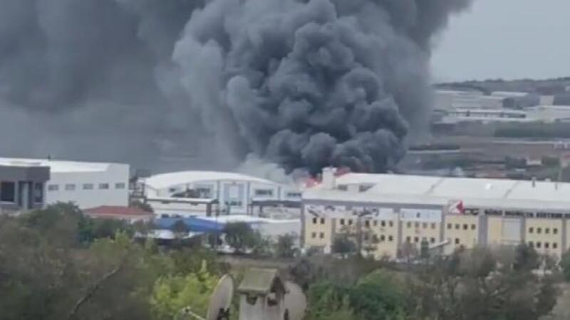 Son dakika... Silivri'de fabrikada yangın! İlk görüntüler