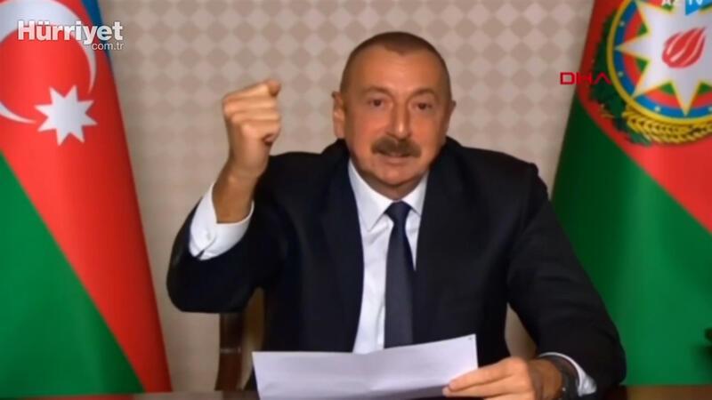 Azerbaycan Cumhurbaşkanı İlham Aliyev,  Azerbaycan halkına seslendi